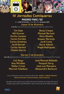 Cartel Jornadas comiqueras 2009