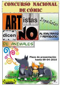 Cartel concurso contra el maltrato animal