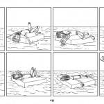 Un tipo que flota