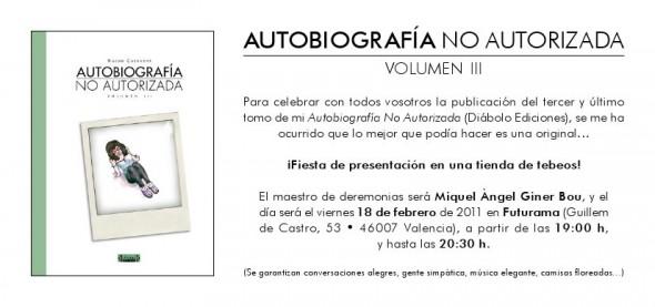 Flyer Presentacion Autobio 3 Valencia